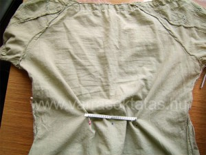 Varrótanfolyam: rövidujjú blúz