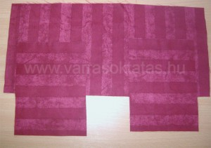 Varrás kezdőknek: távirányító textil tartó varrása