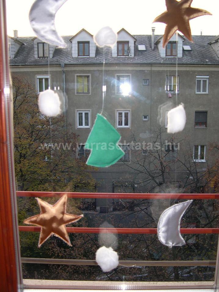 Karácsonyi ablakdekoráció készítése