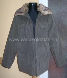 Szőrme gallér varrás férfi téli kabátra