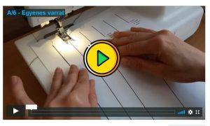 egyenes varrás videó