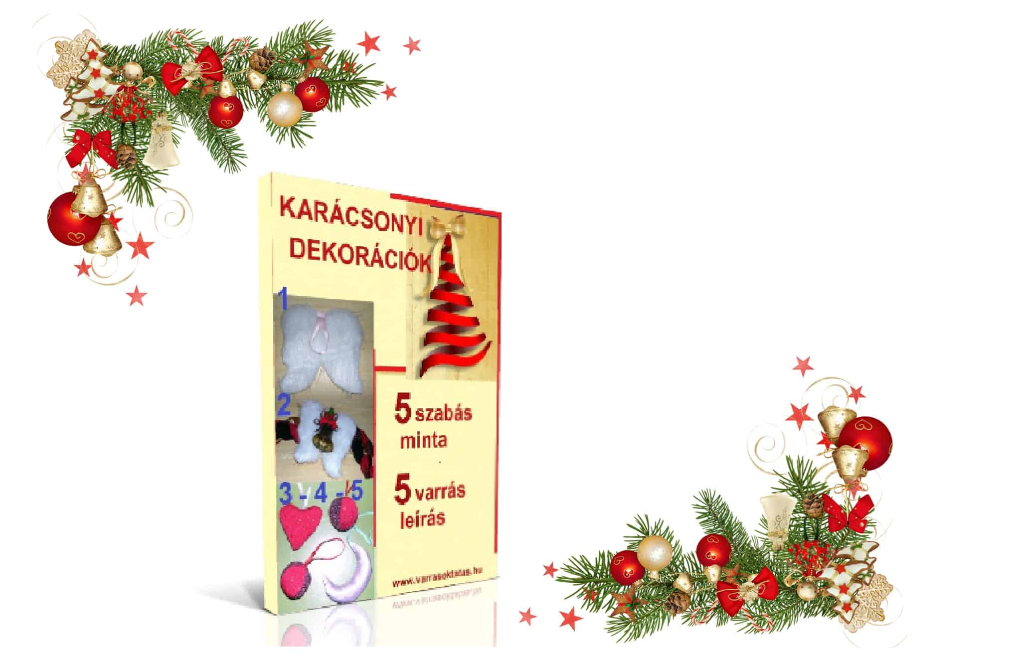 karácsonyi dekoráció varrás