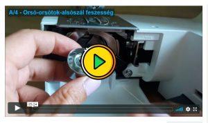 orsótok kivétele a varrógépből videó