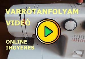 varrógép befűzése videó
