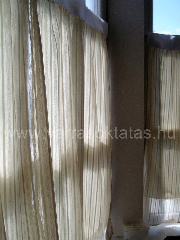 vitrázs függöny varrása